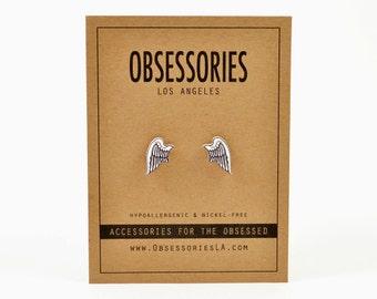 Angel Wing Earrings Stud Earring Post Wing Jewelry Wing Accessories Angel Earring Angel Stud Angel Jewelry Angel Accessories Angel Gift Idea