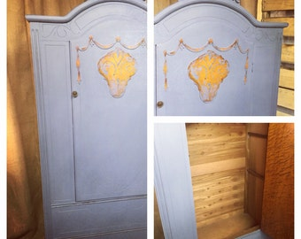 SOLD......Art Deco Wardrobe, Painted Alexandria, VA LOCAL Pick Up Only.