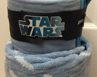 Star Wars towel cake