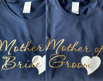 1 Personalized Mother of Bride or Mother of Groom Shirts, Bridesmaid Shirt, Wedding Party Shirt
