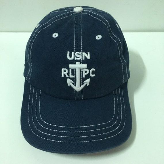 Vtg polo ralph lauren8 blue cap hat us pl rl 1967 stadium for Polo fishing hat