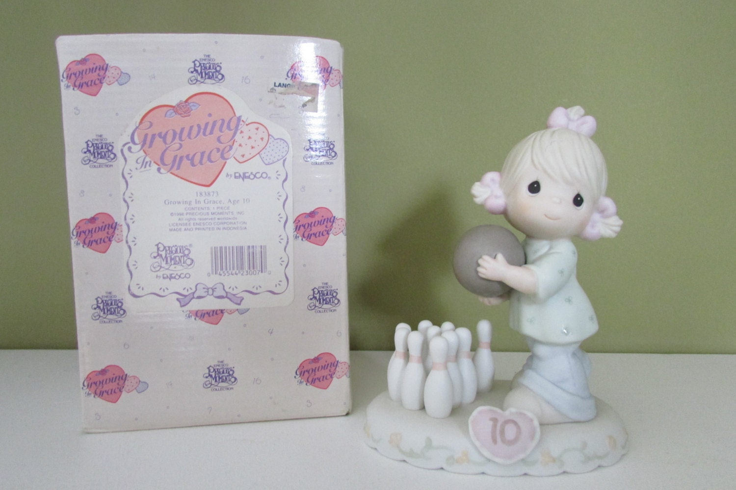 Growing In Grace Age 10 Precious Moments Figurine 1996
