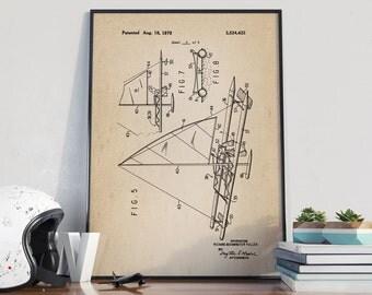 Sailing Boat Patent, Sailing Patent Poster, Nautical Patent, Catamaran Poster, Home Decor, Office Patent Decor - DA0135