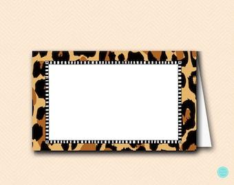 Leopard Jungle Baby Shower Labels Cards, Tent Style labels, Safari Animal Baby Shower Labels, Jungle Baby Shower Decoration TLC469L TLC469
