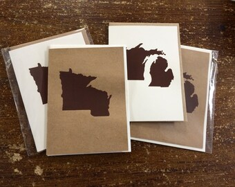 Minnesota Wisconsin as One State Greeting Card, Greeting Card, Midwest