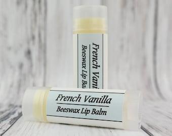 Organic French Vanilla • Natural Beeswax • Lip Balm