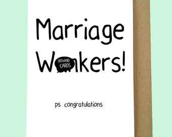Funny Wedding Card Alternative Wedding Card Enjoy Your