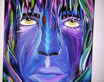 16x20 portrait acrylic canvas painting