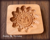 Sun. Wooden carving mold for gingerbread, springerle cookie.