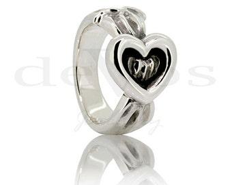 Ribbon and Heart Ring