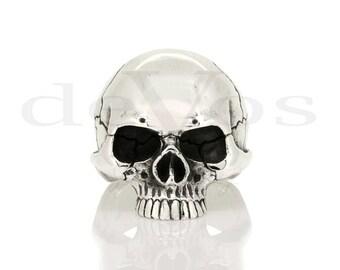 Large Half Skull Ring