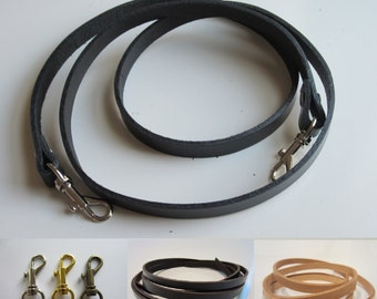 "1/2"" Genuine Leather Replacement Strap, Crossbody Strap, Messenger Bag Straps, Custom Made Long & Extra Long 50""-59"""
