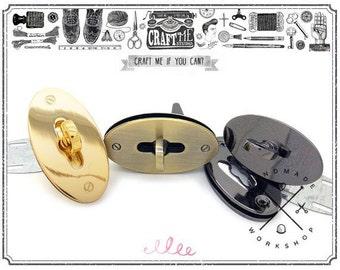 "1 PC 2 3/4"" (70MM) Oval Twist Lock  Purse Closure Leathercraft Accessory Turn Lock"
