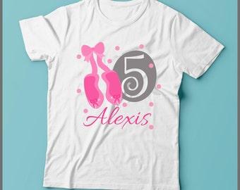 Ballerina Birthday Shirt, 1st Birthday Shirt, Ballerina Pink, Ballerina Shoes Shirt