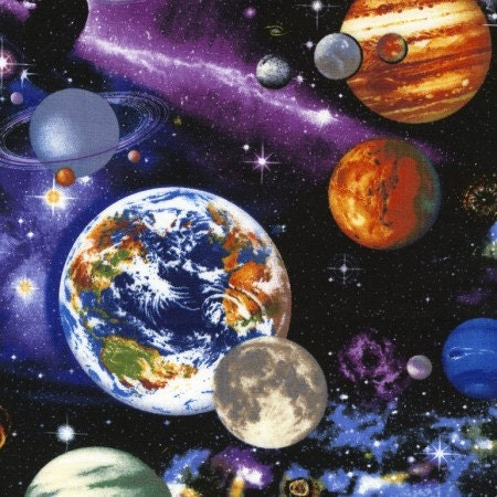 Space fabric royce galaxy fabric planets fabric with for Timeless treasures galaxy fabric