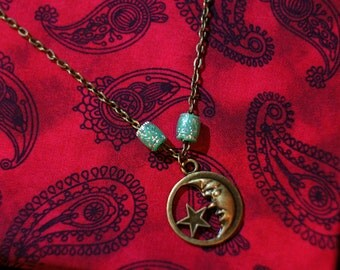 Bronze Moon Necklace
