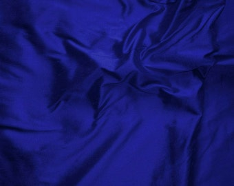 Pure Dupioni Silk - Royal Blue - 100% Silk - SLDP23