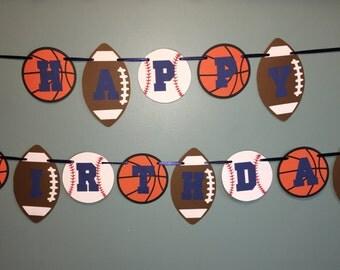 Sports Birthday Banner