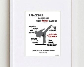 Personalized Martial Arts Black Belt Gift • Tae Kwon Do Black Belt Gift  • Karate Black Belt Gift •Judo Black Belt Gift •