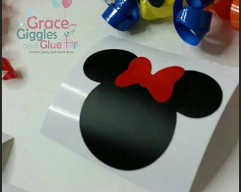 12 (2inch) DIY Vinyl Minnie Mouse Inspired Decals