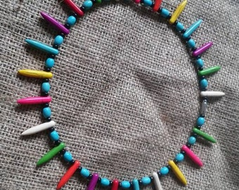 Turquoise spike neclace