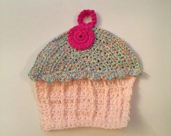Crocheted Cupcake Dishcloth