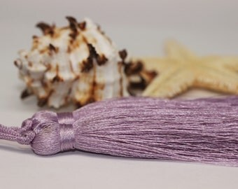 2/10/50 Pcs Light Violet Lux Tassels - 80 mm Long Thick Tassels - for your lovely diy crafts, jewelries and accessories PS081