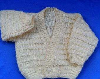 Baby's Ridge Patterned Cardigan