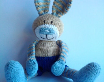 Hand knitted bunny boy,