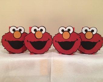 "4 elmo 7"" faces for ballon weight centerpieces for sesame birthday theme party"