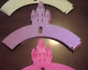 Princess cupcake wrapper (glitter)
