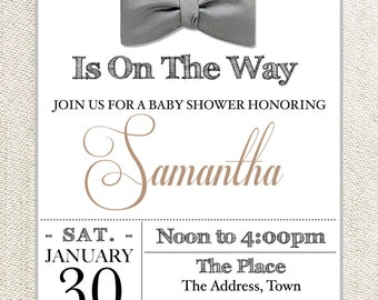 Baby Shower Invitation and Book Card- BOY