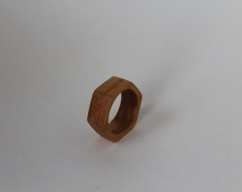 """Wooden Ring, Cherry Wood, Wooden Ring """"Nut"""""""