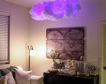 Rainbow Cluster Cloud, optional Bluetooth speaker, Cloud Light, color, music, nightlight, surround sound, glow, storm, night, large cloud