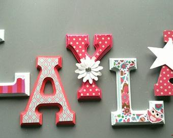 Custom wooden letters / NUrsery custom wall wood letters.
