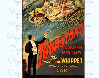 Magician Poster, Howard Thurston, Thurston Magic Print, Theater Advertising, Thurston illusionist, Living Room Decor, Magician Wall Art