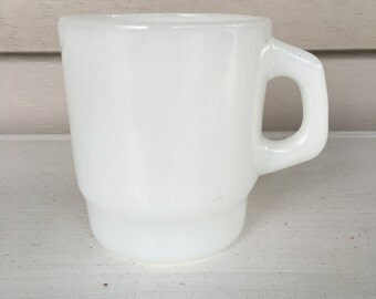 Anchor Hocking Milk Glass Mug - Vintage - #28