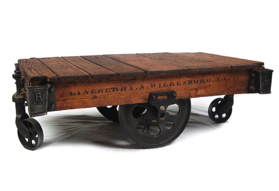 1900s Restored Lineberry Factory Cart