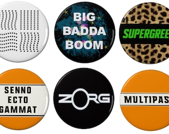 Fifth Element - Pin Back Badges/Fridge Magnets - TV - Film - Sci Fi - Books - Multipass - leeloo - supreme being tattoo - ruby rhod