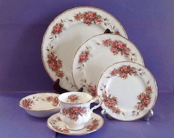 unique canadian rose china related items etsy. Black Bedroom Furniture Sets. Home Design Ideas