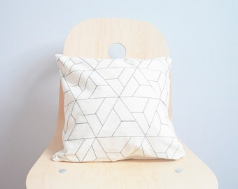 Geometric Pillow Cover, Geometric pillow case ,Throw Pillow, Minimalistic pillow, Decorative pillow, Cotton canvas pillow, Pillow Cover