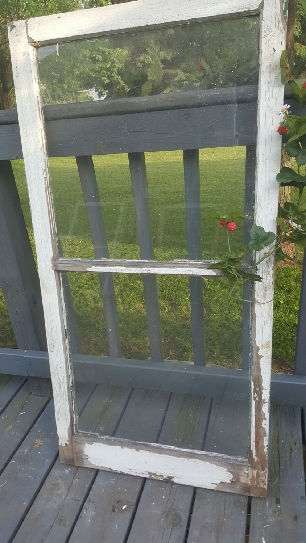Wooden Window Frame Crafts Vintage Wood Window Window Frame 2 Pane Old Window Farmhouse