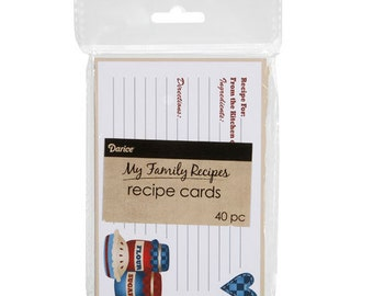 My Family Recipes Recipe Cards - Country Cookin' - 4 x 6 inches - 40 cards  1219-521