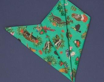 Jungle printed on cotton bandana