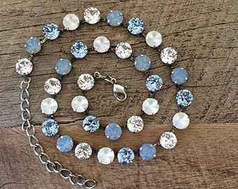 Swarovski Crystal 8mm Necklace Frosted Matte