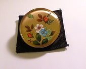 Unused vintage powder compacts Melissa enamel compact mirrors vintage something blue gifts wedding presents