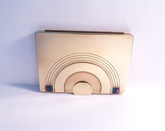 """RARE compact mirrors Dorothy Gray """" Rainbow """" novelty powder compact figural compacts 1940s unused rouge"""