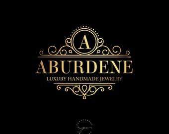 Golden premade logo design, luxury logo design