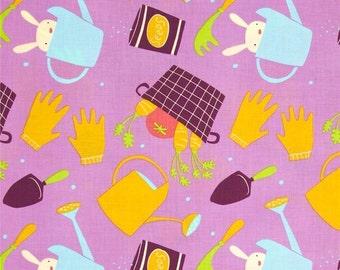 Garden Tools David Walker Free Spirit Cotton Quilt  Fabrics   Veggies    Bfab
