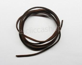 Faux leather strap type alcantara brown 1 pc